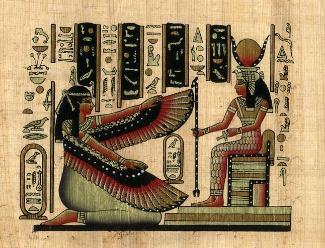 Ma'at and Hathor