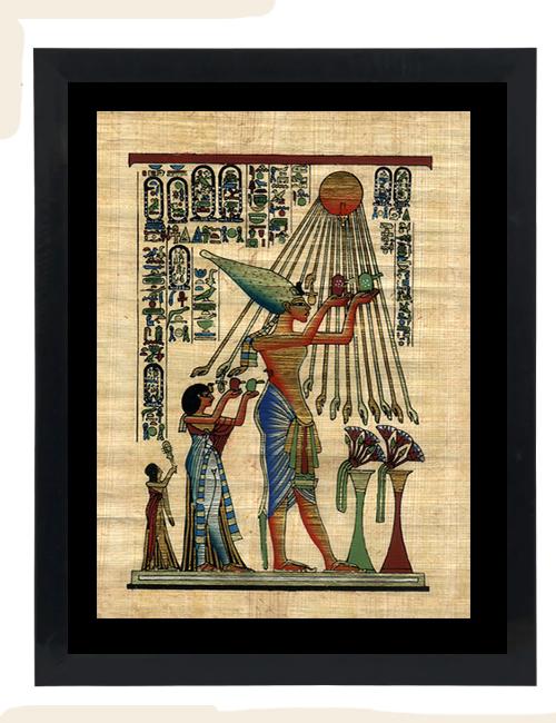 Akhenaten Papyrus Painting