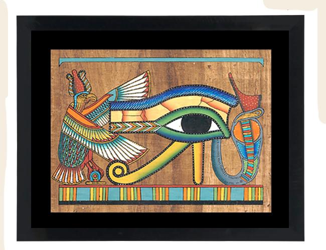 Eye of Ra Papyrus Painting