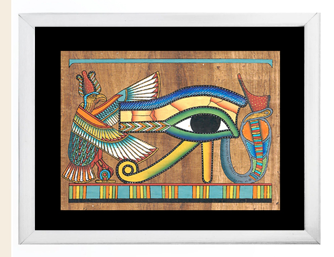 Eye of Ra papyrus Paintings