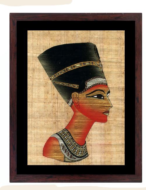 Nefertiti Papyrus Painting