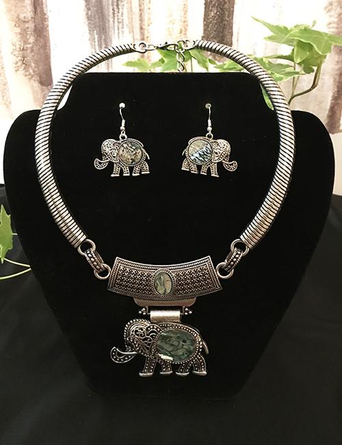 Abalone Elephant Set