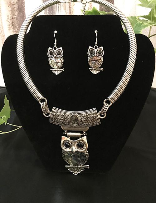 Abalone Owl Set