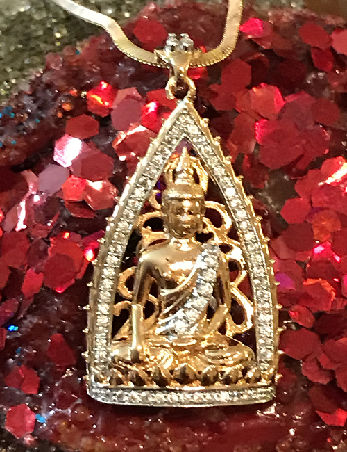 14kt Gold Plated Buddha Necklace