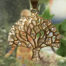 Tree of Life stainless Steel Necklace with 14kt Gold Overlay