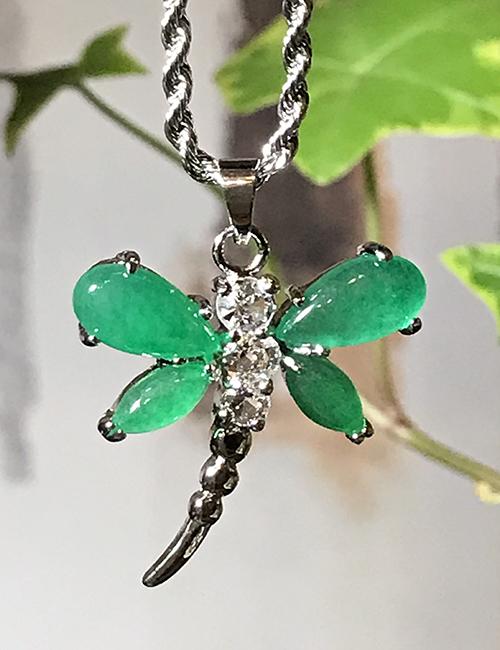 Jade Dragonfly necklace