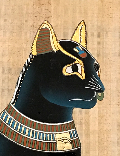 Bast Papyrus Painting