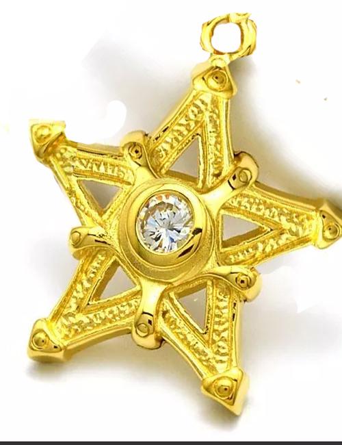 14kt Gold Pentacle